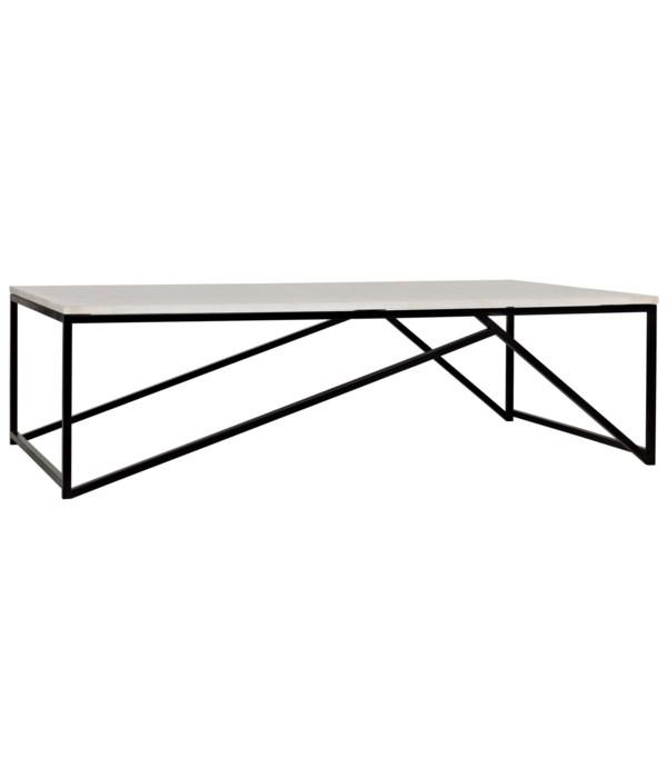 Molimo Coffee Table, Black Steel