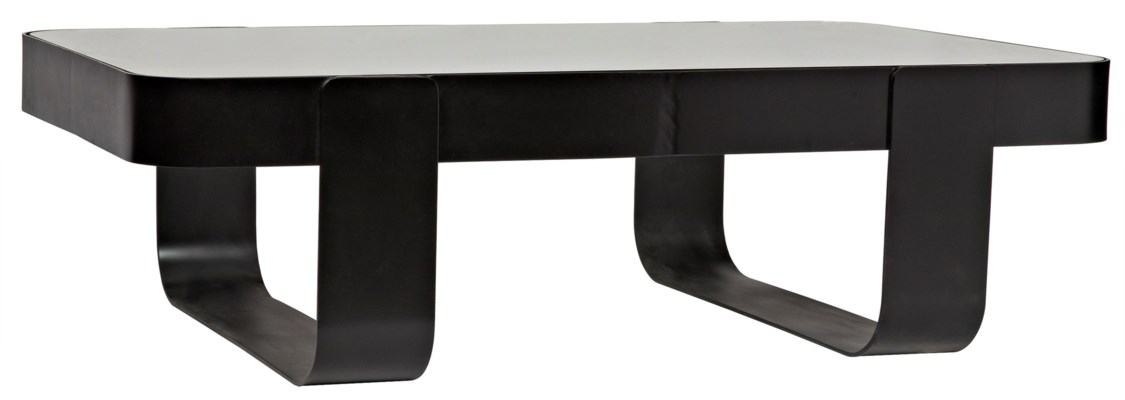 Marshall Coffee Table, Black Metal