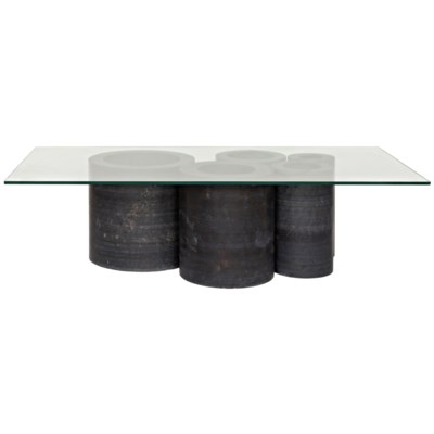 Golyath Coffee Table Black Stone And Gl