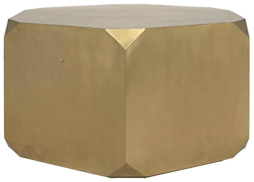 Tytus Coffee Table, Antique Brass