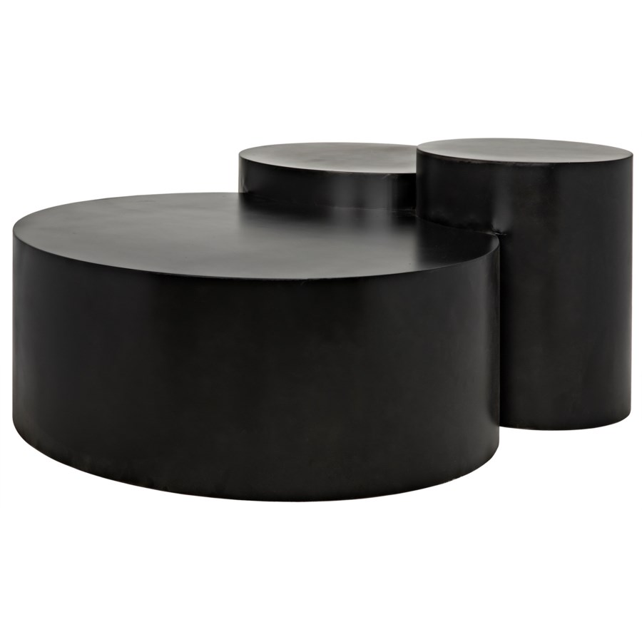 Ella Coffee Table, Black Metal Finish