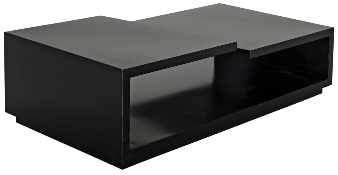Shift Coffee Table, Black Metal
