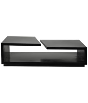 Shift Coffee Table, Black Metal