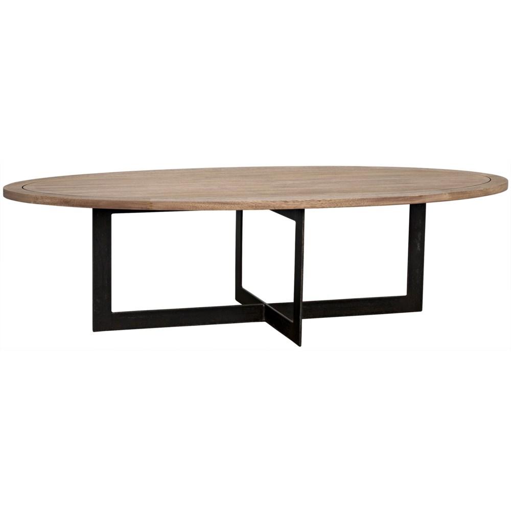Gauge Coffee Table, Metal, Washed Walnut