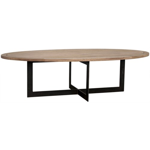 Gauge Coffee Table, Metal, Washed Walnut
