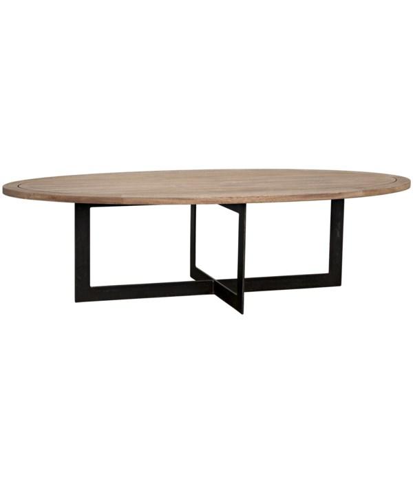 Gauge Coffee Table, Steel, Washed Walnut