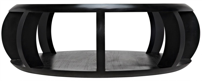 Fujian Coffee Table, Hand Rubbed Black