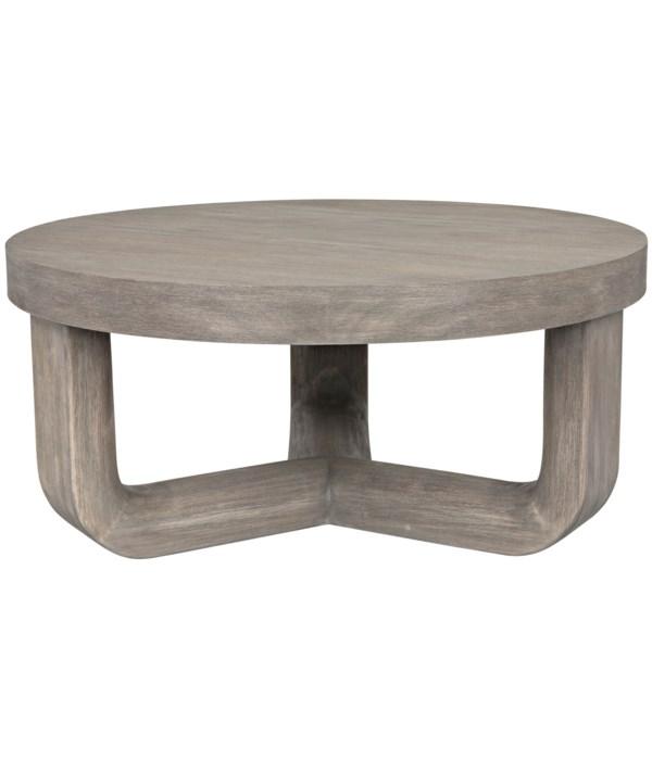 Joel Coffee Table, Distressed Grey