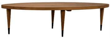 SL Coffee Table, Gold Teak