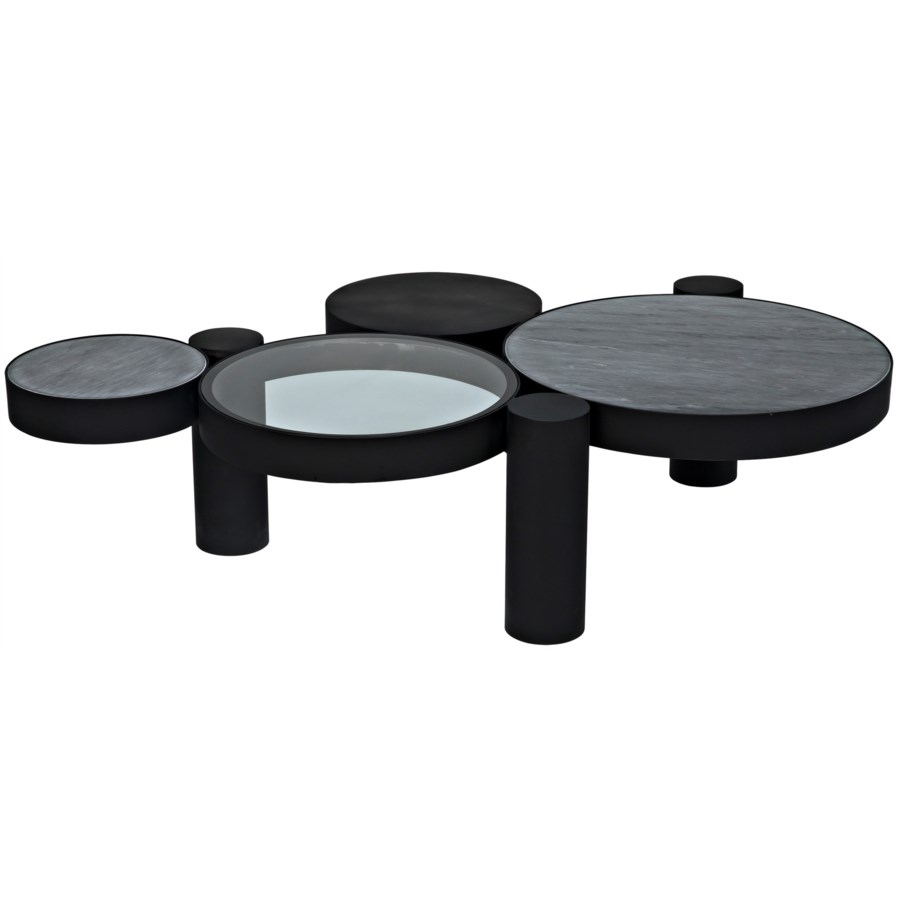 Trypo Coffee Table, Black Metal