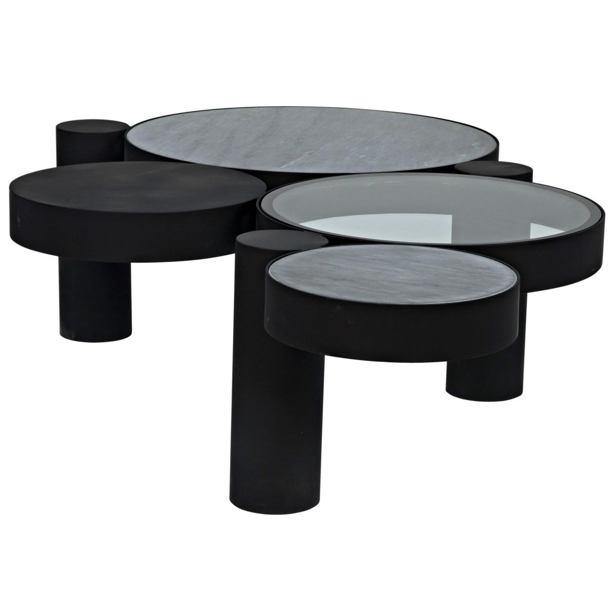 Trypo Coffee Table, Black Steel