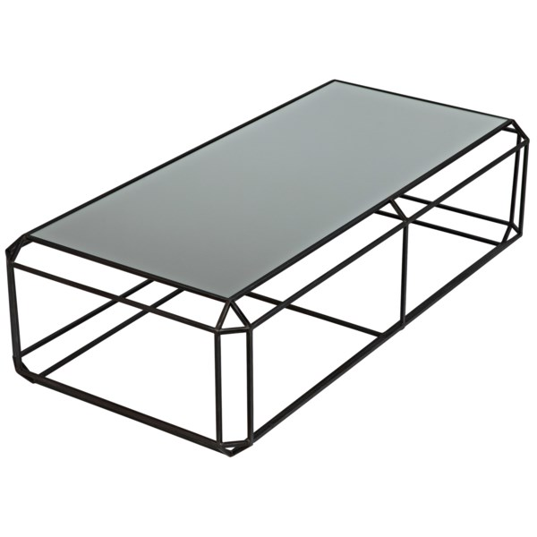 Ostro Coffee Table, Metal with Mirror