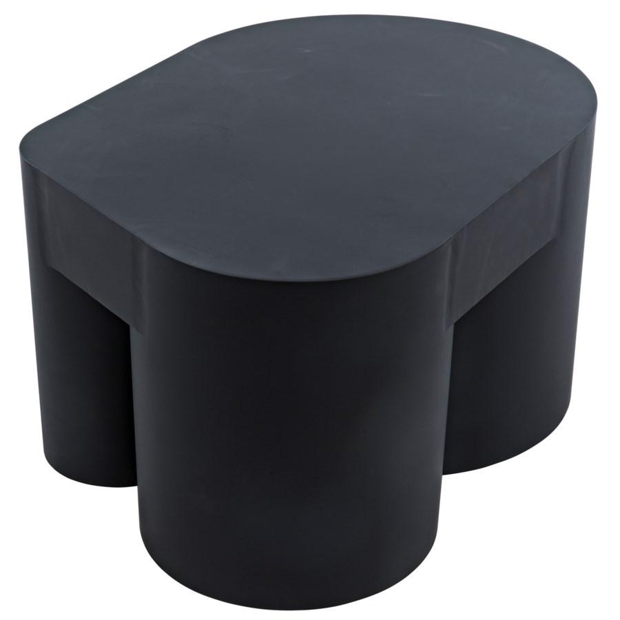 Bain Coffee Table, Black Metal