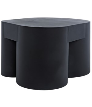 Bain Coffee Table, Black Metal