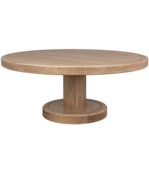 Milena Coffee Table, Washed Walnut