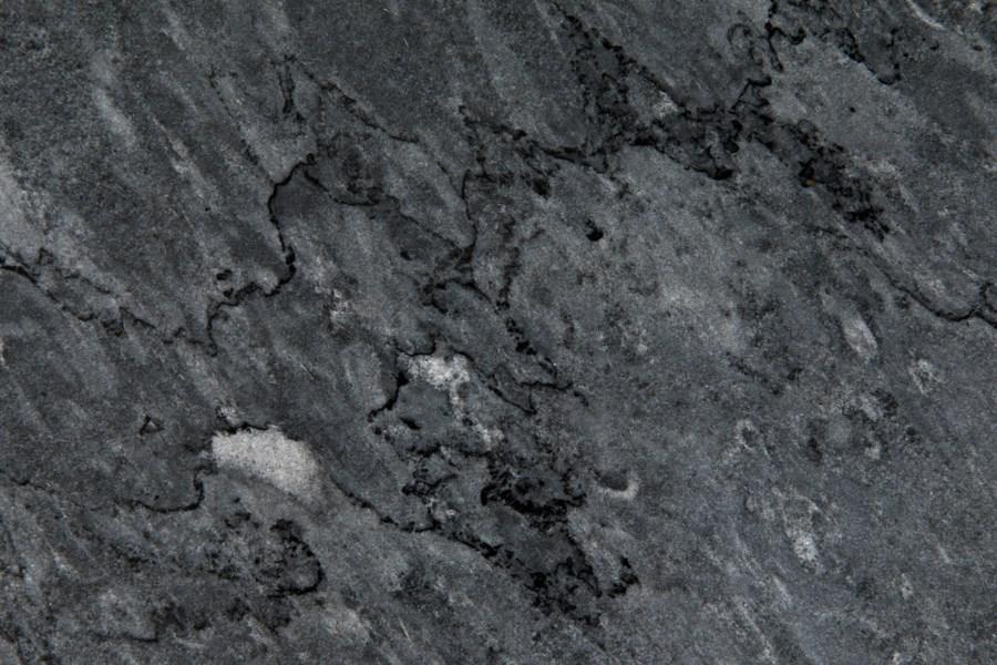Lomax Coffee Table, Matte Black Finish W/Black Stone