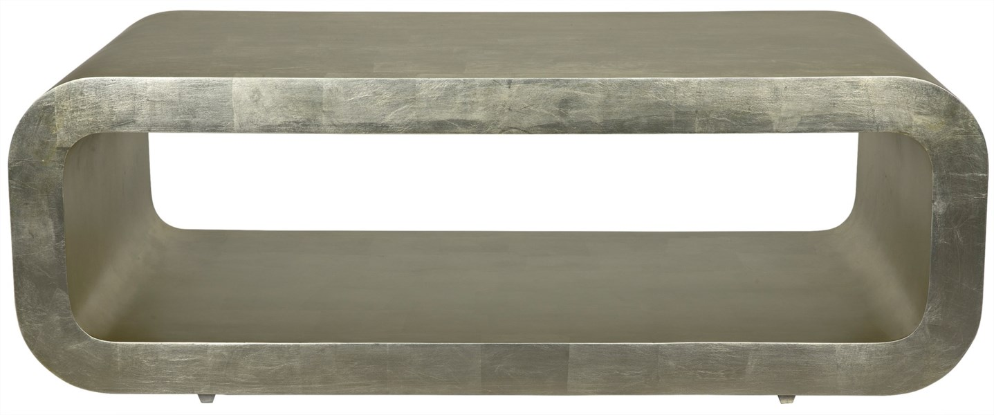 Sarum Coffee Table, Silver Leaf