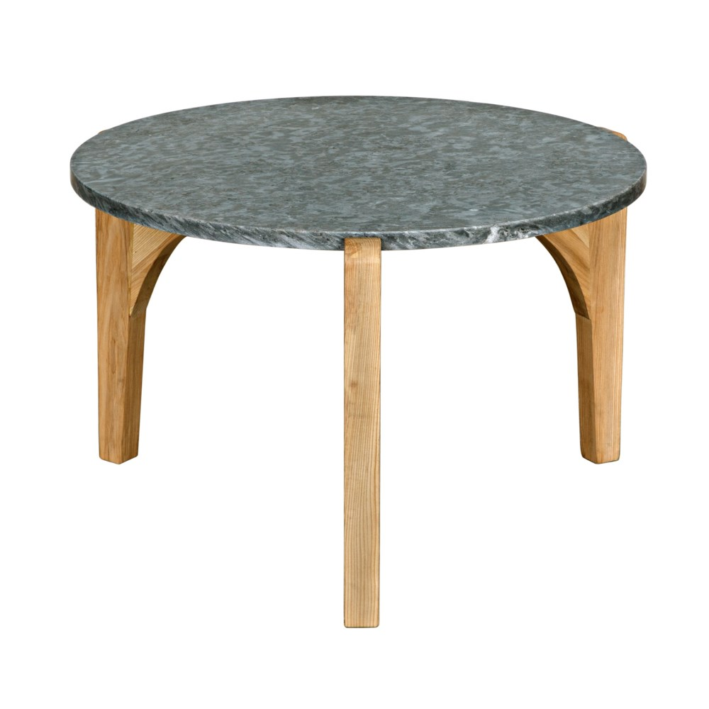 Confucius Coffee Table with Black Marble Top