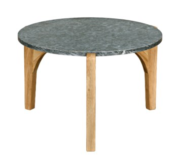 Confucius Coffee Table w/Stone Top