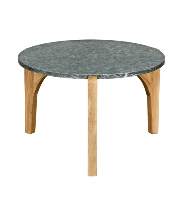 Confucius Coffee Table with Stone Top