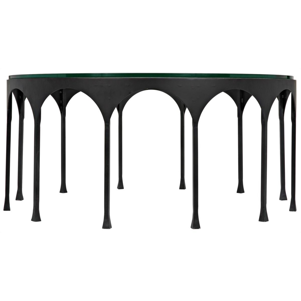 Achille Coffee Table, Black Metal