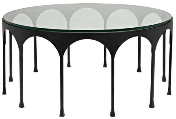 Achille Coffee Table, Matte Black