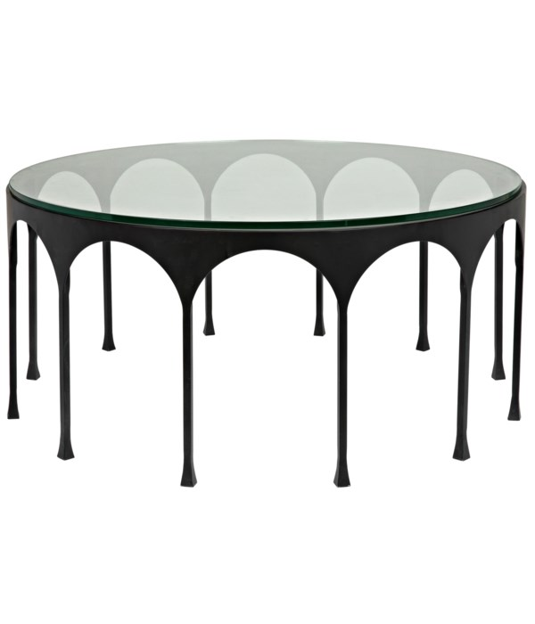 Achille Coffee Table, Black Steel