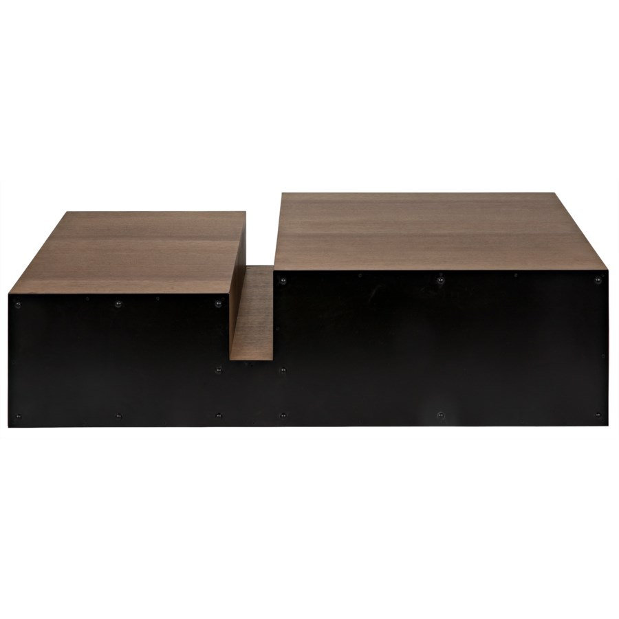 Nido Coffee Table, Black Metal