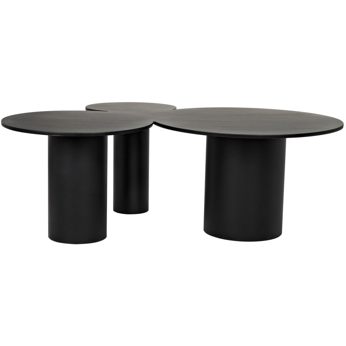 Shield Coffee Table, Black Metal