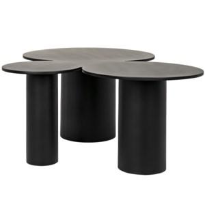 Shield Coffee Table, Black Steel