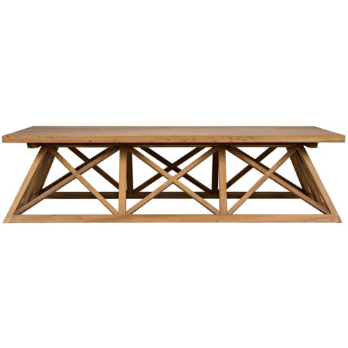 Gable Coffee Table, Gold Teak - cocktail tables | Noir