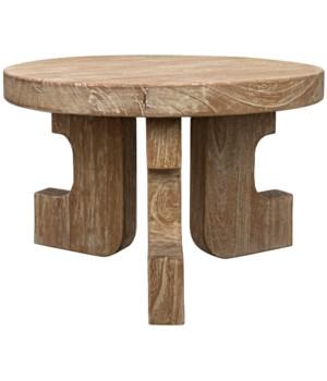 Manchu Small Coffee Table, Distressed Mindi