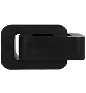 Nodum Accent Table, Black Steel