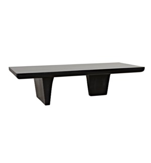 Ward Coffee Table, Hand Rubbed Black