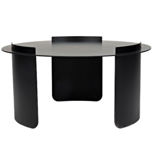 Thor Coffee Table, Black Steel