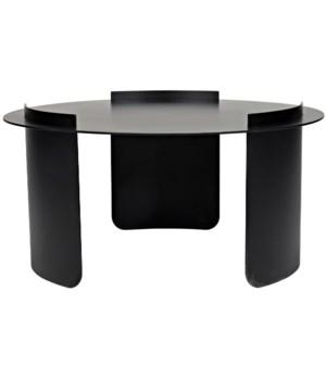 Thor Coffee Table, Black Metal