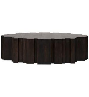 Royce Coffee Table, Ebony Walnut