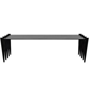 Iris Coffee Table, Black Steel