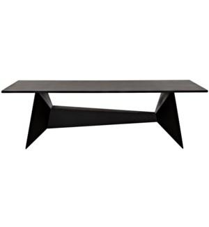 Soyka Coffee Table, Black Steel
