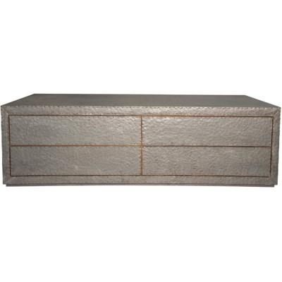 Metal Coffee Table with 4 Drawers
