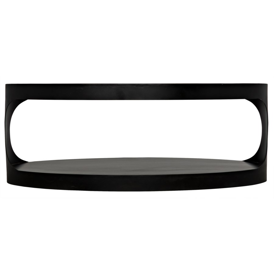 Eclipse Oval Coffee Table, Black Metal