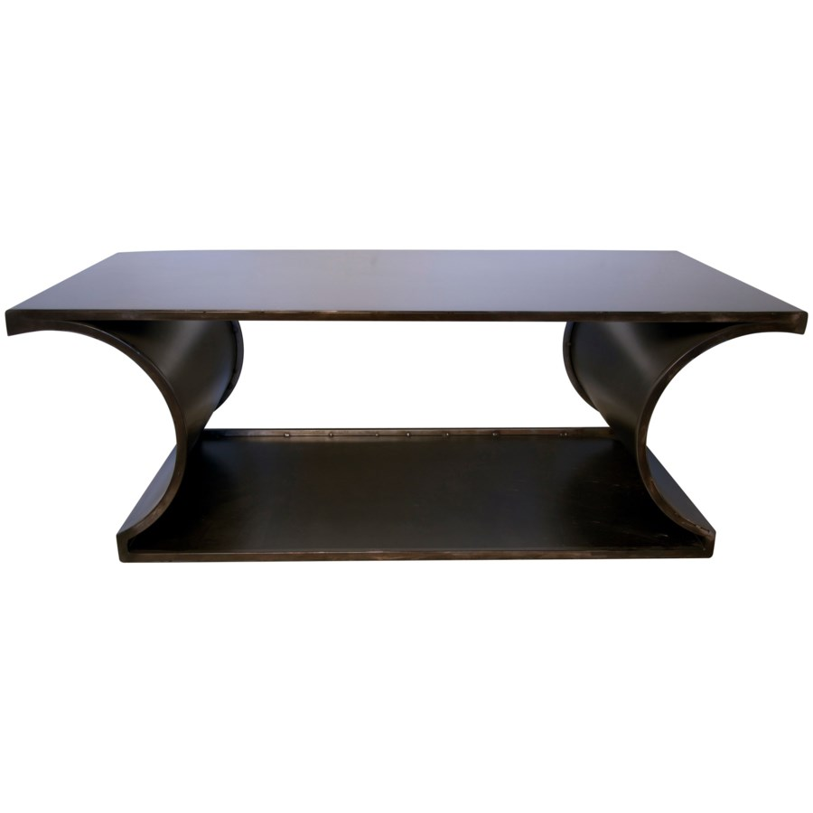Alec Coffee Table, Black Metal