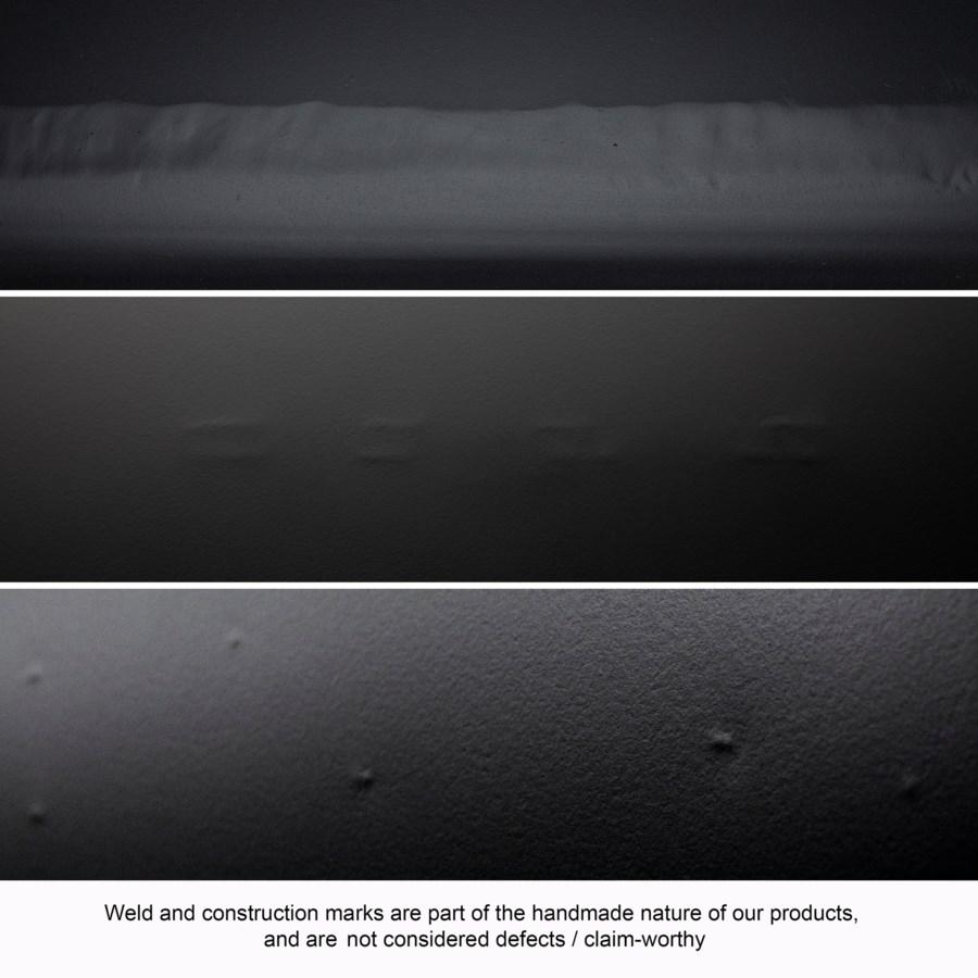 Rome Coffee Table, Black Metal