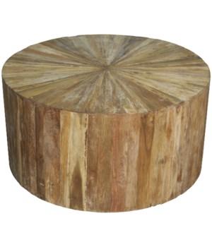 Round Teak Wood Coffee Table