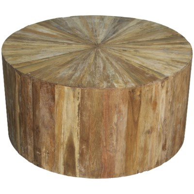 Round Teak Wood Coffee Table