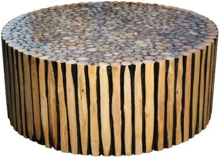 Tronco Coffee Table, Round