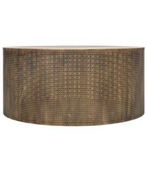 Dixon Coffee Table, Metal w/Aged Brass Finish