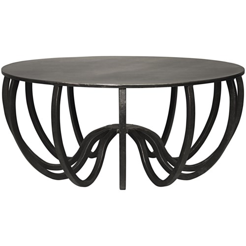 Cambell Coffee Table, Black Metal