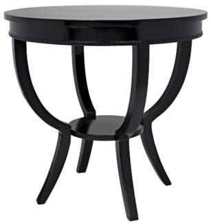 QS Scheffield Round End Table, Black