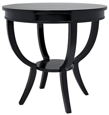 Scheffield Round End Table, Black